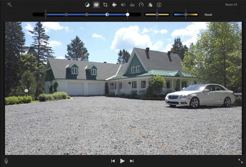 Color correction options in iMovie for Mac